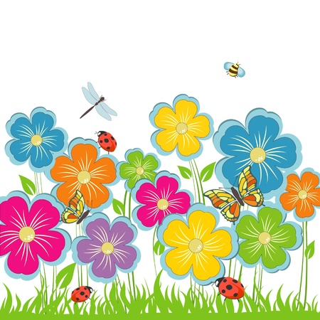 Summer background Flower glade