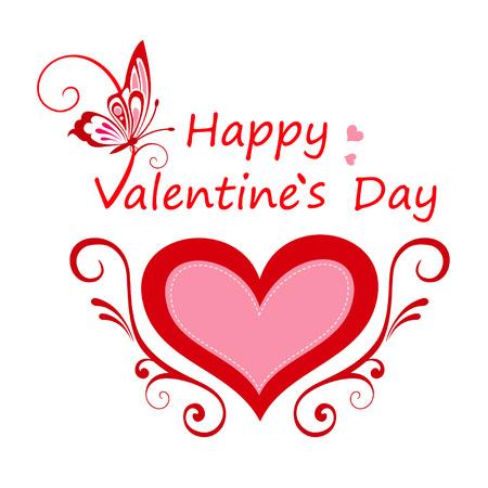 Valentines day card Illustration