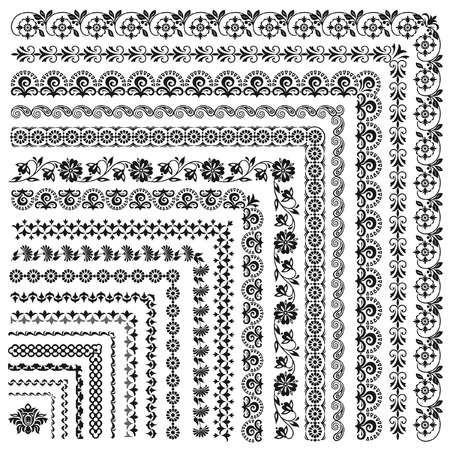 Set of vector frames and borders