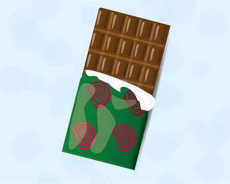 inconvenience: chocolate bar, sweet Illustration