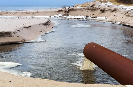 ストック海パイプ排水環境衛生公害 写真素材