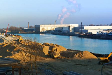 construction of a sports stadium, obeta, construction of the stadium