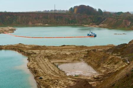 l'exploitation minière de la méthode sous-marine de construction de sable, une drague pour écrémer et laver du sable