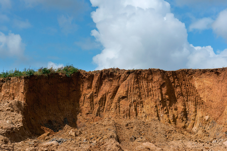 quarry sand, soil disturbance by extraction of minerals