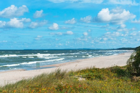 sea waves, Baltic sea, sea storm