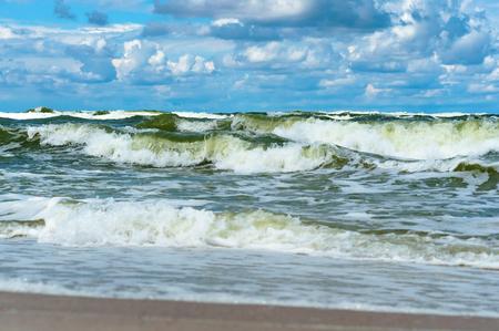 sea waves, Baltic sea, sea storm Archivio Fotografico