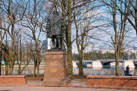 monument to Duke Albrecht, statue of the Duke of Prussia, Cathedral, Albrecht Brandenburg, Kaliningrad, Russia, April 6, 2019