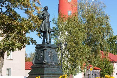 monument to Peter I, Peter the Great monument, Baltiysk, Kaliningrad region, Russia, October 5, 2019