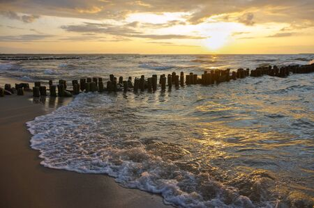 sunset on the sea, sunrise on the Baltic coast