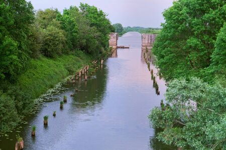 canal - an artificial lake, navigable channel