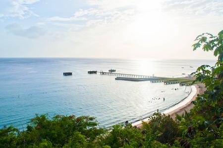 Crash Boat Beach Seascape, Aguadilla, PR Imagens - 57766724