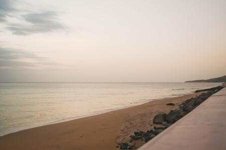 shore: Beach shore sunset