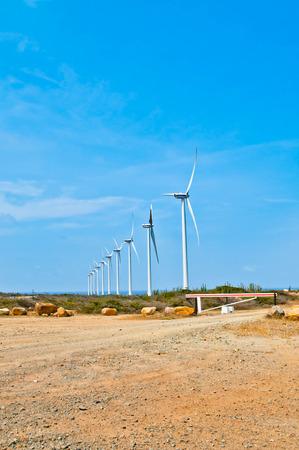 molinos de viento: Molinos de viento en Aruba Foto de archivo