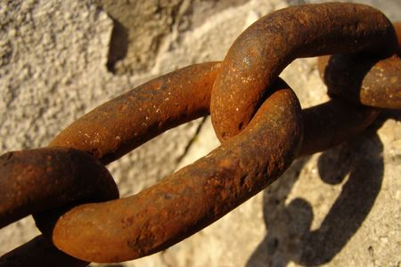 catenation: A Picture of an old rusty Chain