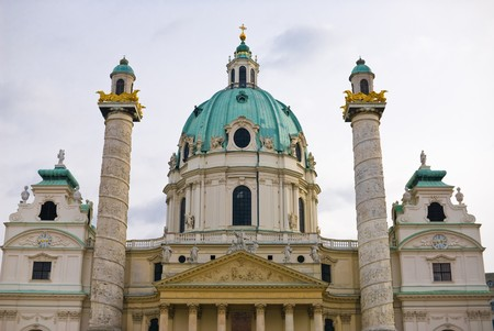 st charles: the viennese st. charles church is located at the karlsplatz in the first district of vienna near the ringstrasse. the architecture style is baroque.