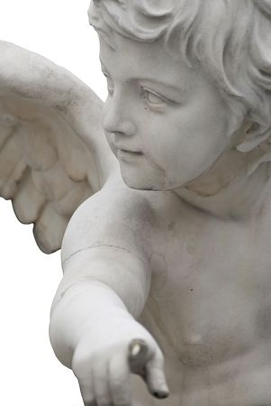 angel statue: the famous sculptures around the austrian parliament dedicated to the greek goddess pallas athena Stock Photo