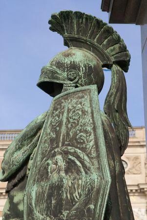 sculpted: een gebeeldhouwde armor van een renner in stockholm