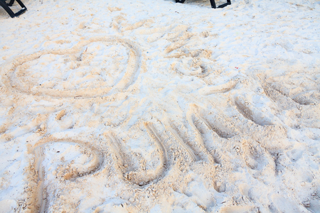 daybreak: Drawing on the sand in Punta Cana