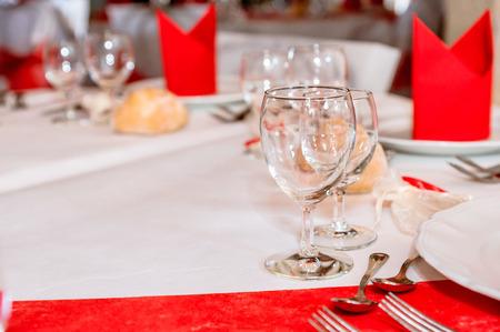 Decoration of wedding table photo