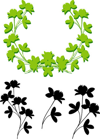 vector shamrock elements and frame Stock Vector - 4406113