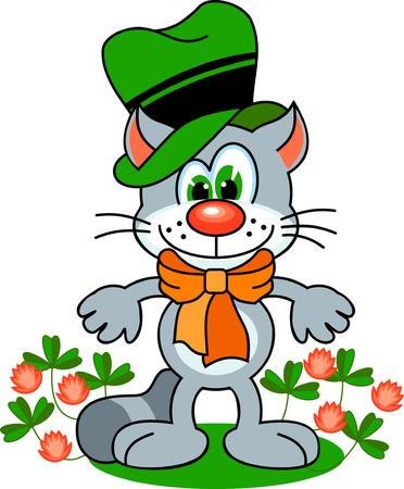 Irish cat Vettoriali