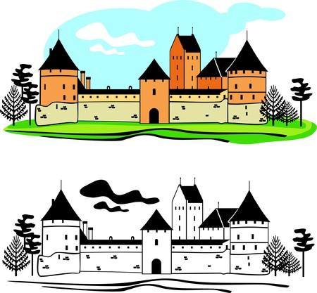 castle district: The old castle Illustration