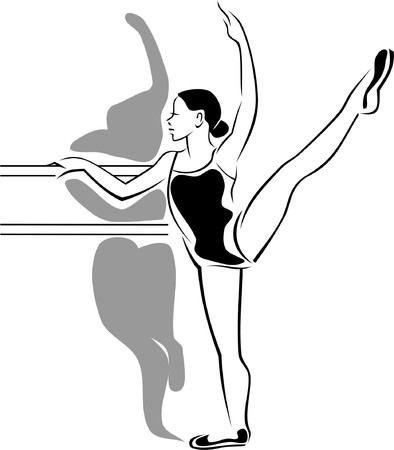 female athletes: A ballet-dancer trainee