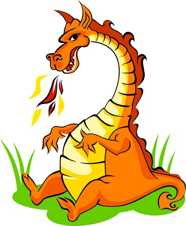 Orange dragon Stock Vector - 4433790
