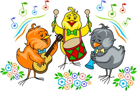 easter chick: chicken band