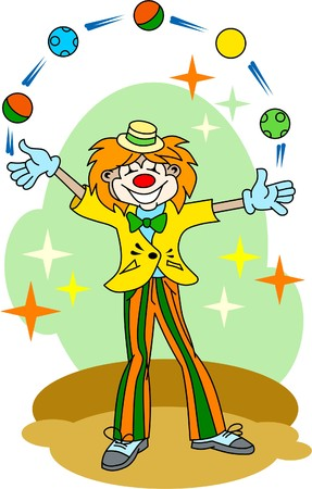 clown-juggler Vector
