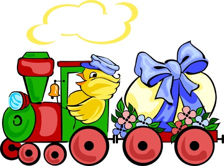 Easter locomotive Illustration