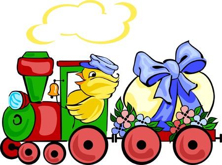 Easter locomotive Ilustração