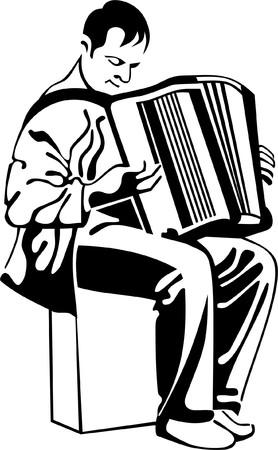 aerophone: accordion player