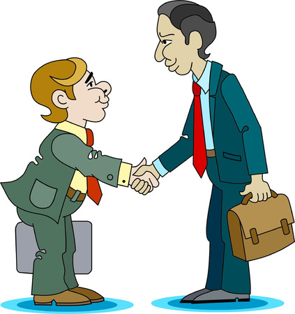 handclasp: A business meeting