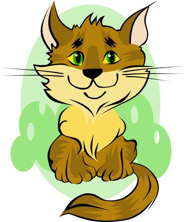 Cute kitten Stock Vector - 4864472