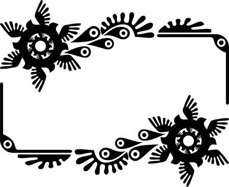 Oval frame with birds Vector