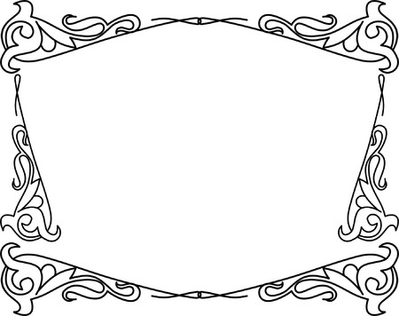 Abstract decorative frame Vector