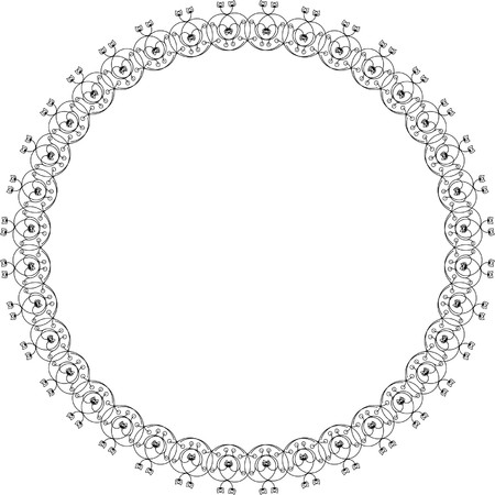 round silhouette frame Vector