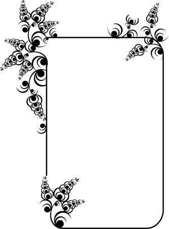circular chain: legant frame with floral elements