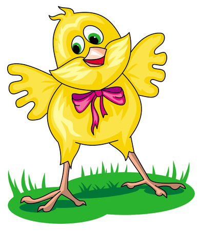 Funny Easter chicken Vector