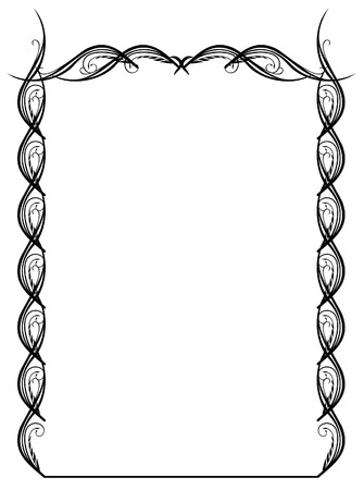 silhouette frame with floral element Vector