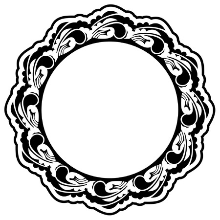Round silhouette frame Imagens - 8786311
