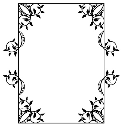 decorate element: silhouette frame