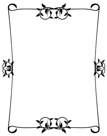 bookish: elegant silhouette frame