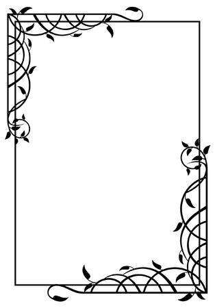 elegant silhouette frame Stock Vector - 8786309