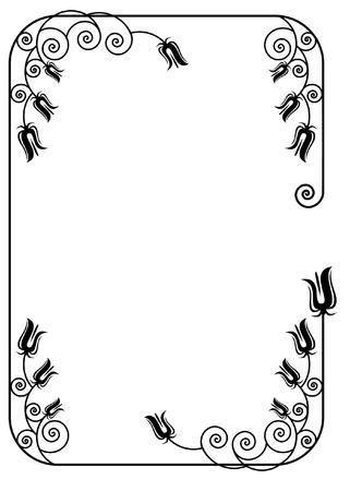 simple border: elegant silhouette frame