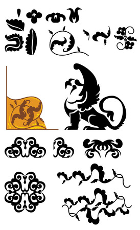 design elements with griffin Stock Vector - 8786292