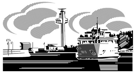 ferry boat: A ferry boat