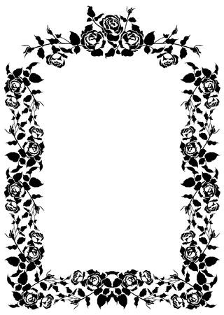 bookish: Roses elegant silhouette frame