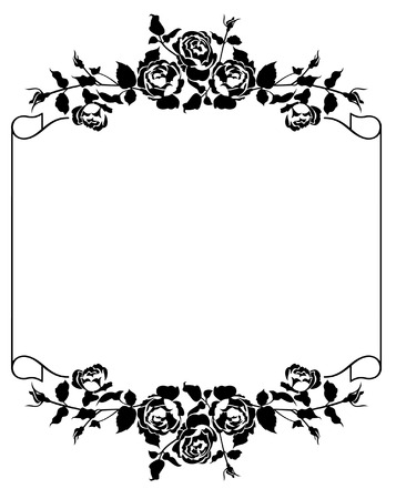 bookish: Roses silhouette frame